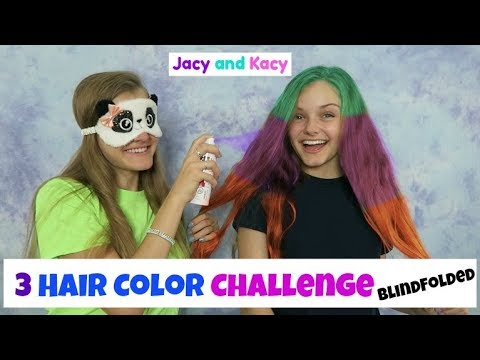 3 Hair Color Challenge ~ Blindfolded ~ Jacy and Kacy