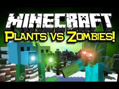 Minecraft PLANTS VS ZOMBIES MOD Spotlight! - Flower Power! (Minecraft Mod Showcase)