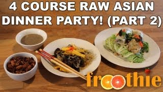 Raw Asian Dinner Party Part 2 Of 4 - Kelp Noodle Salad - Getting Into Raw: Cooking With Zane
