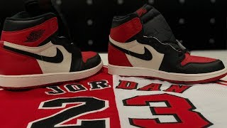 """JORDAN 1 """"Bred Toe"""" QUICK LOOK @mralans. These will sell out!"""