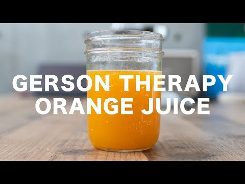 GERSON THERAPY // ORANGE JUICE