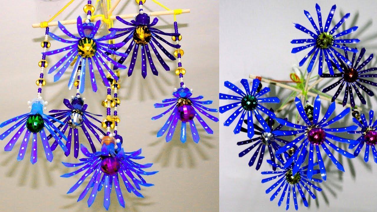 d7effcc2262b Plastic bottle wind chime - Plastic bottle craft videos - Plastic bottle  craft ideas