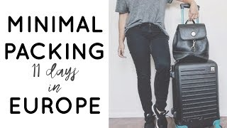 Minimalist Packing ✈ 11 days in Europe in a Carry-On | Jamie Kate