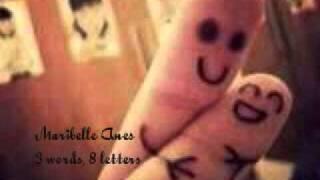 3 words, 8 letters - Maribelle Anes (w/ lyrics)