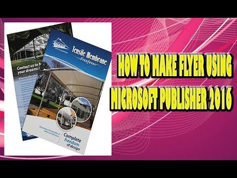 how to make flyer using microsoft publisher 2016 youtube