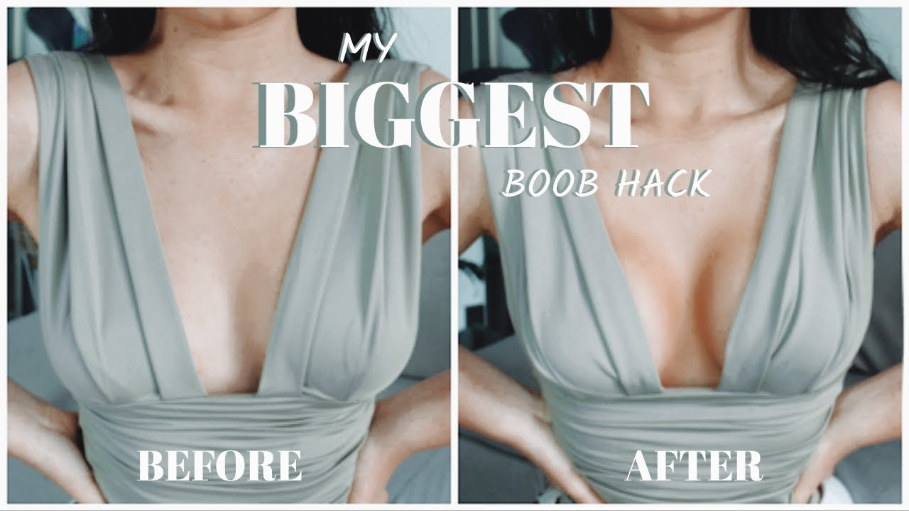 My BIGGEST NOBRA Boob Lift Hack ft Perky Girls Tape