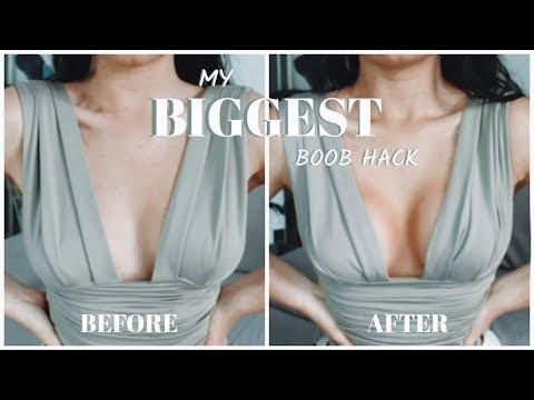 My BIGGEST NO-BRA Boob Lift Hack?! ft Perky Girls Tape