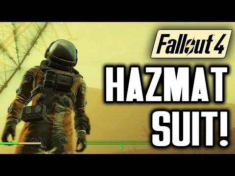 Fallout 4 Gameplay Tips: The Hazmat Suit! Survive The Glowing Sea With No Power Armor