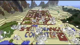 MINECRAFT 1.9 NPC VILLAGE VS TNT!