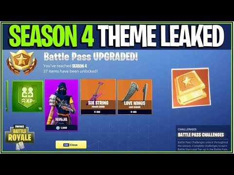 *NEW* Fortnite: SEASON 4 LEAKED BATTLE PASS/THEME LEAKED! | (New Alien Theme, And More!)
