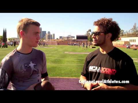 Tate Martell QB 2017 - Washington Commit Interview at Steve Clarkson Camp - CollegeLevelAthletes.com