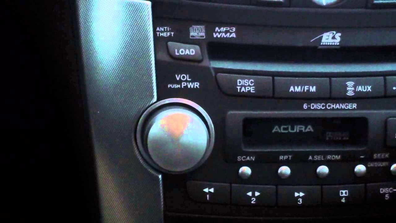 SET YOUR RADIO PRESETS ON A ACURA TL - YouTube