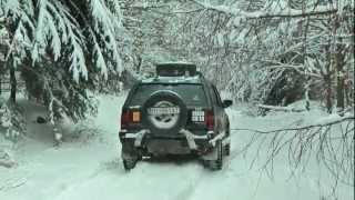 SNOW OFFROAD NISSAN PATROL OPEL FRONTERA MYJAVA SLOVAKIA 01/2013