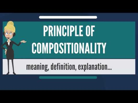 What is PRINCIPLE OF COMPOSITIONALITY? What does PRINCIPLE OF COMPOSITIONALITY mean?