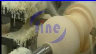 Heavy-duty automatic cnc wood turning lathe machine