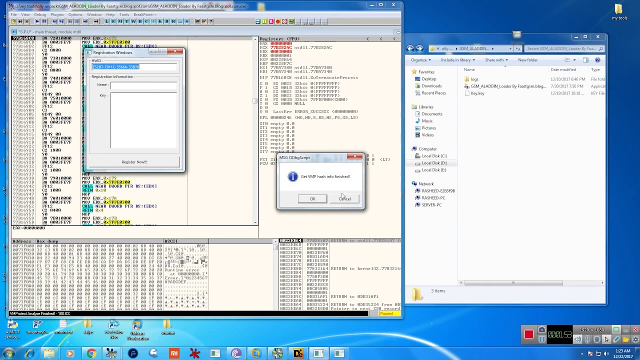vm protection unpacking all version supported by Rasheed k s