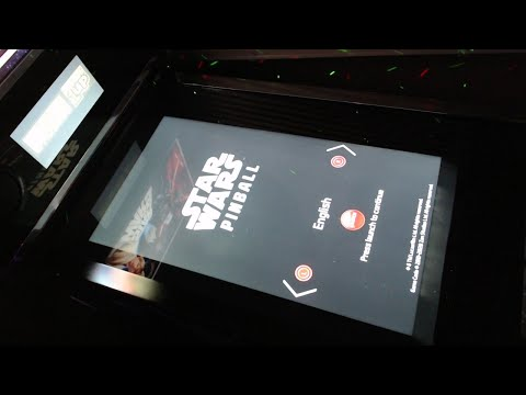 Star Wars Ahch-To-Island arcade1up pinball You Tube live stream test from scarfwaverly
