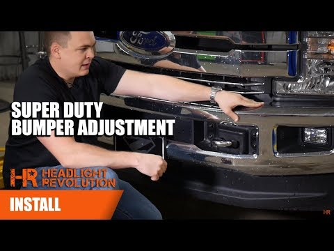 Adjust the Front Bumper to Remove Headlights on a 2017 Ford F350