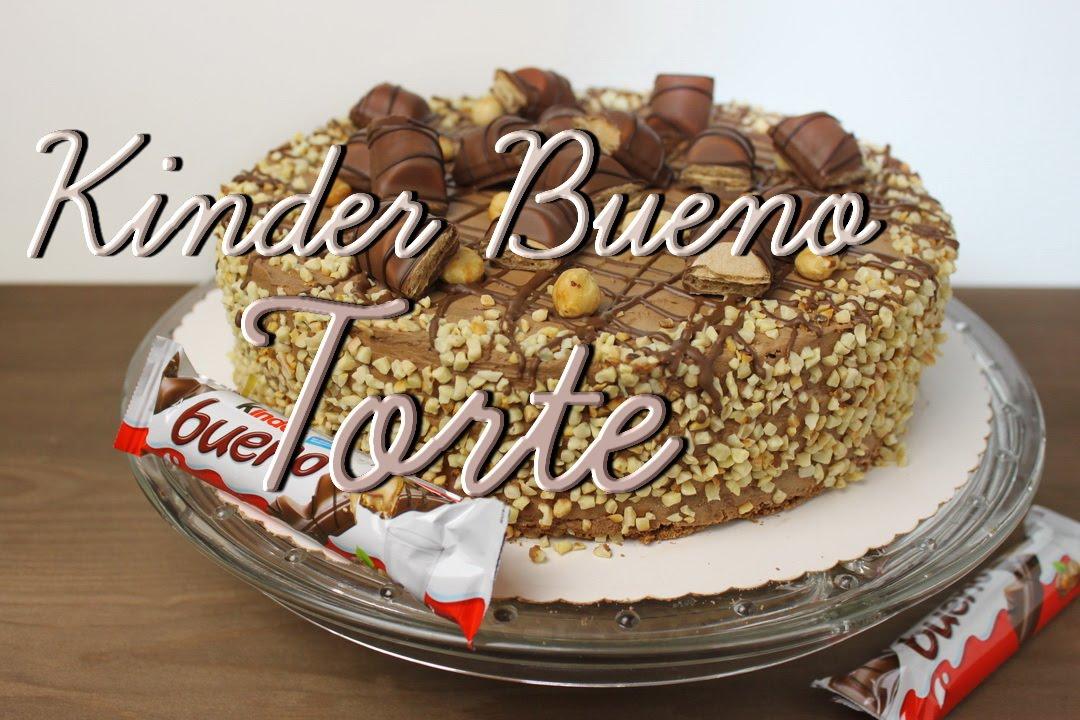 Kinder Bueno Torte selber machen  Schokobiskuit