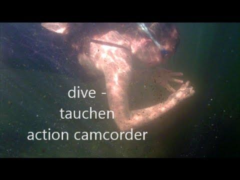 JANA taucht - Dive - Action Camcorder - River Chassezac (Ardèche, France)