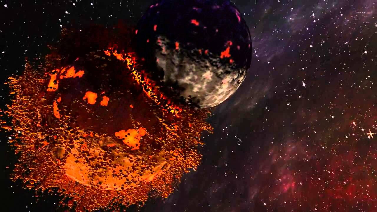 Planets explosion made by blender youtube for What is outer space made of