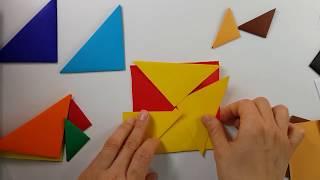 칠교 탱그램 색종이로 만들기(도형의 이해)