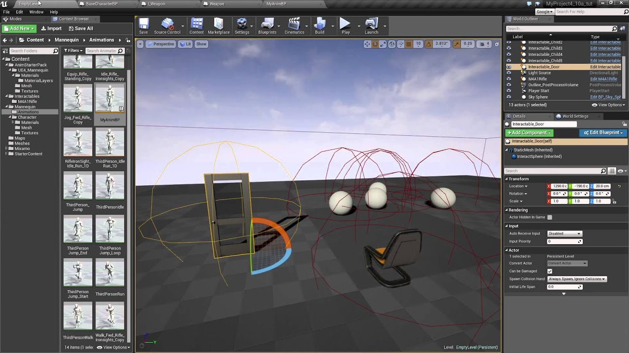 Part 11 ue4 equipping the weapon now with animation youtube part 11 ue4 equipping the weapon now with animation malvernweather Choice Image