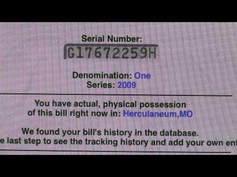 Www.wheresgeorge.com One Dollar Bill Tracking