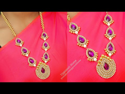 How To Make Designer Pearl Necklace At Home | DIY | jewelry Making | Silk Thread Necklace