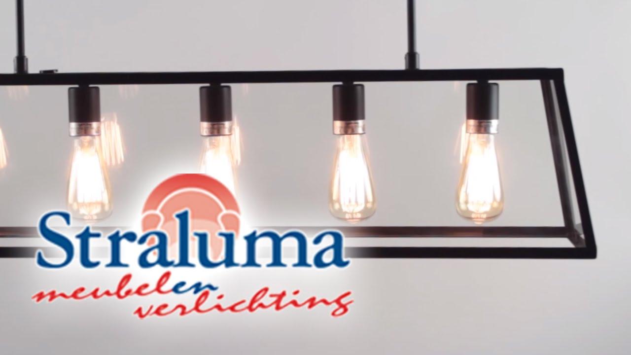 zwarte industriele hanglamp svana hanglamp voor eettafel 12210210 straluma verlichting youtube