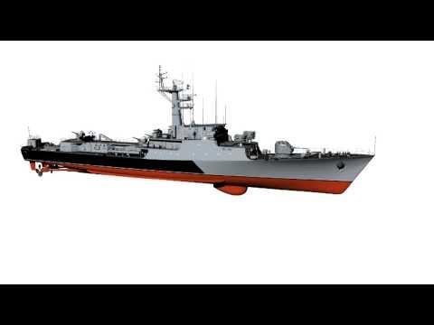 "Submarine search-and-destroy corvette  ORP ""Kaszub"" Polish Navy"