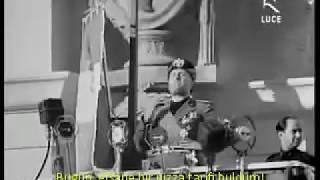 Şef Mussolini İtalyaya Konuşuyor! Mussolini Konuşması 1936