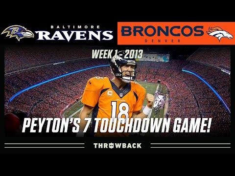 (HIGHLIGHT)Peyton Manning Throws 7 Touchdown Passes! (Ravens vs. Broncos 2013, Week 1)