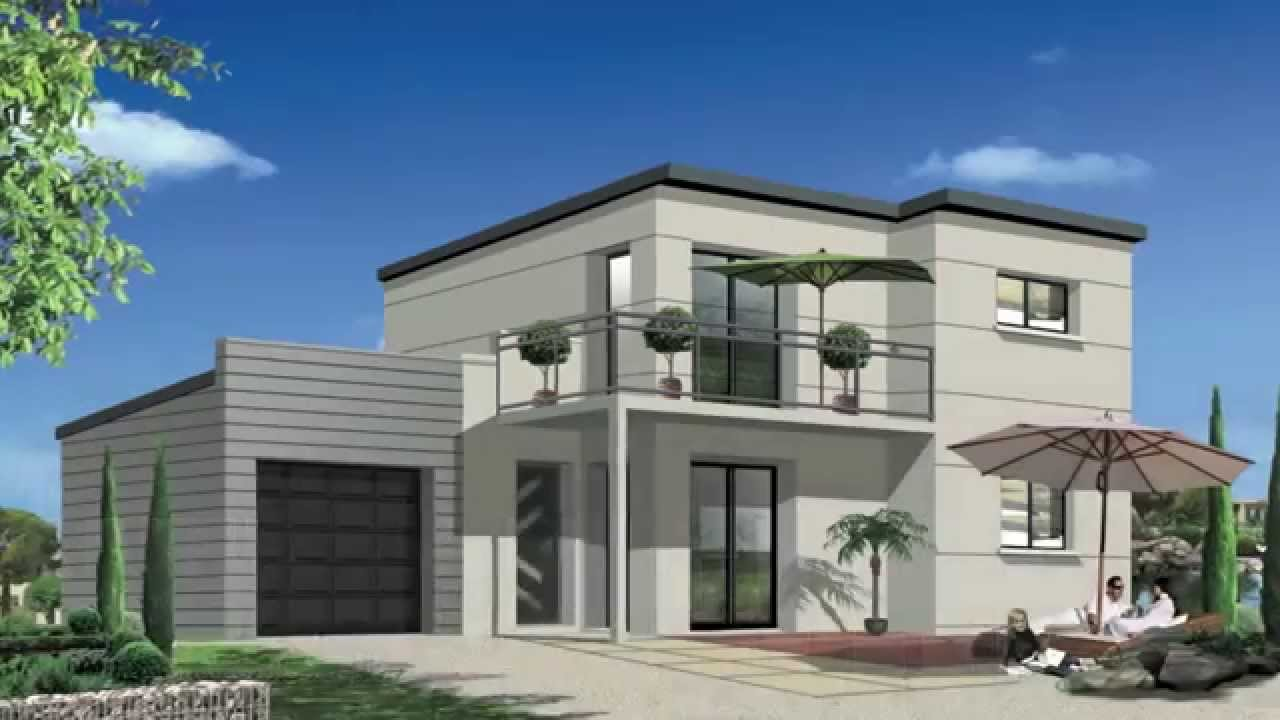Maisons contemporaines modernes rt2012 orca youtube - Model de maison moderne ...