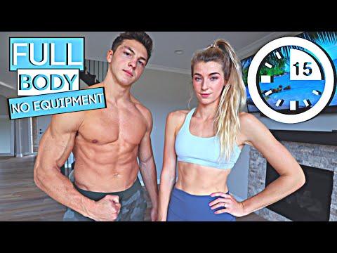 15 MIN FULL BODY WORKOUT - Beginner Version // Jatie Vlogs