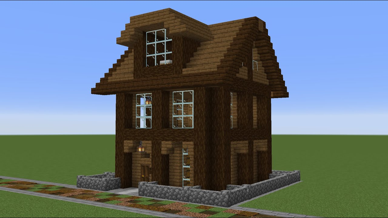 Minecraft - How to build a small wooden house 3