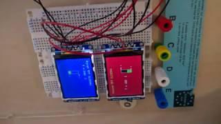 Arduino UNO R3 using 2 TFT LCD