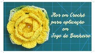 Flor para aplicação em jogo de banheiro com Diane Gonçalves