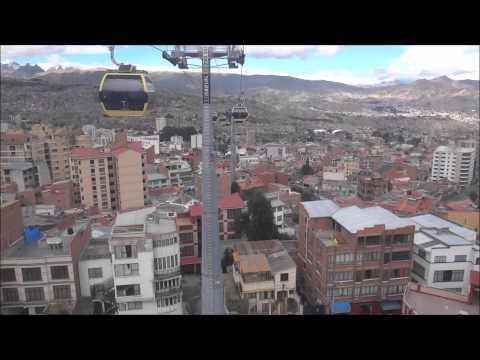 Teleferico La Paz Bolivia  Linea Amarilla