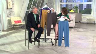 Bob Mackie's Pull-On Ponte Knit Straight Leg Pants with Jacque Gonzales