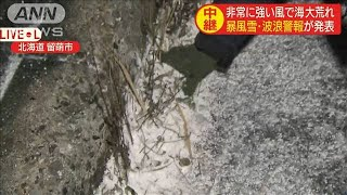 """北日本を中心に""""冬の嵐"""" 北海道・留萌市の様子(19/11/14)"""