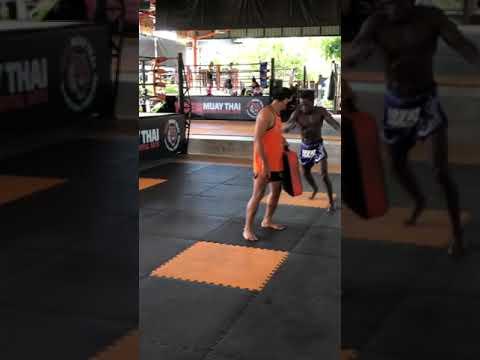 Training at Tiger Muay Thai 20/7/21