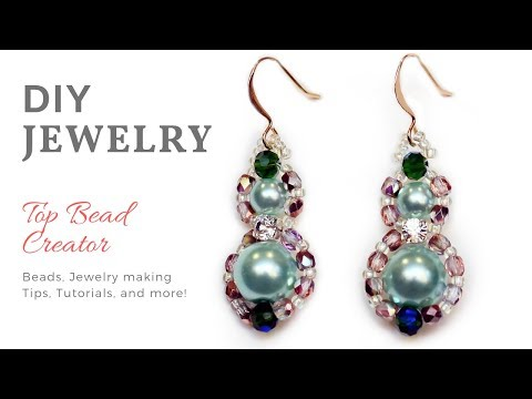 DIY Easy Beaded Pearl Earrings, Hand made Jewelry Tutorial at home.