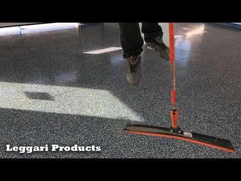 concrete-garage-coated-using-epoxy-&-paint-chips-|-step-by-step-process