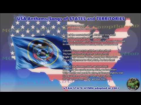 Utah State Hymn UTAH WE LOVE THEE with music, vocal and lyrics