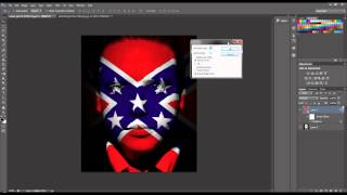 Photoshop Tutorial: Blending a Flag on a Face
