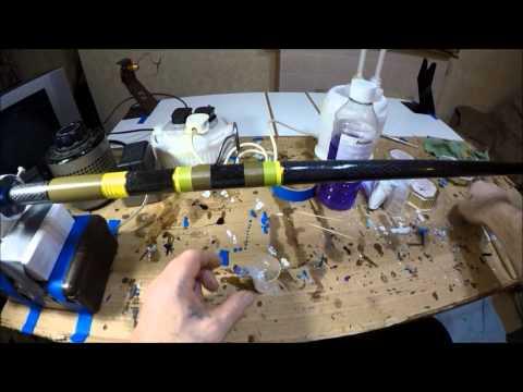 Fishing Rod Rebuild... Pt 3  Shrink Tubing And Epoxy Finish Work...