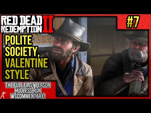 "Red Dead Redemption 2: First Person Mode No HUD Walkthrough P.7 ""Polite Society, Valentine Style"" thumbnail"