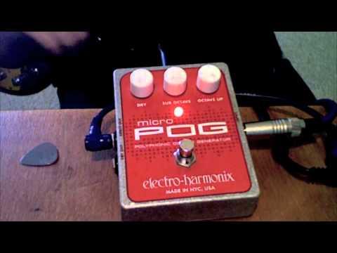 Electro-Harmonix Micro POG (on bass)
