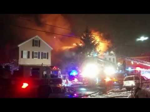 3 Alarm fire in Chelsea, Massachusetts
